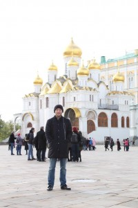 Incredible cathedrals inside the Kremlin in Moscow, Russia.