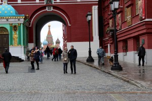 Just outside the Red Square in Moscow, Russia.